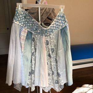 Dresses & Skirts - BoHo skirt handkerchief hem Retro style, size 9